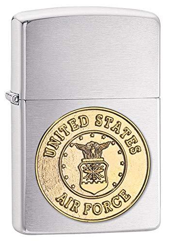 Zippo us Air Force Crest Emblem Lighter Brushed Cromo