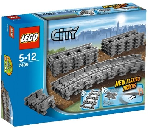 LEGO City - Rails flexibles - 7499 - Jeu de Construction