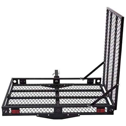 Goplus Wheelchair Carrier Mobility Scooter Loading Ramp Heavy Duty Strong Hitch Cargo
