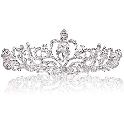 Hochzeit Tiara Kristallkrone mit Kamm Kristall Braut Tiaras Stirnband für Bridal Crown Hochzeit Proms Festzüge Prinzessin Parties Geburtstag