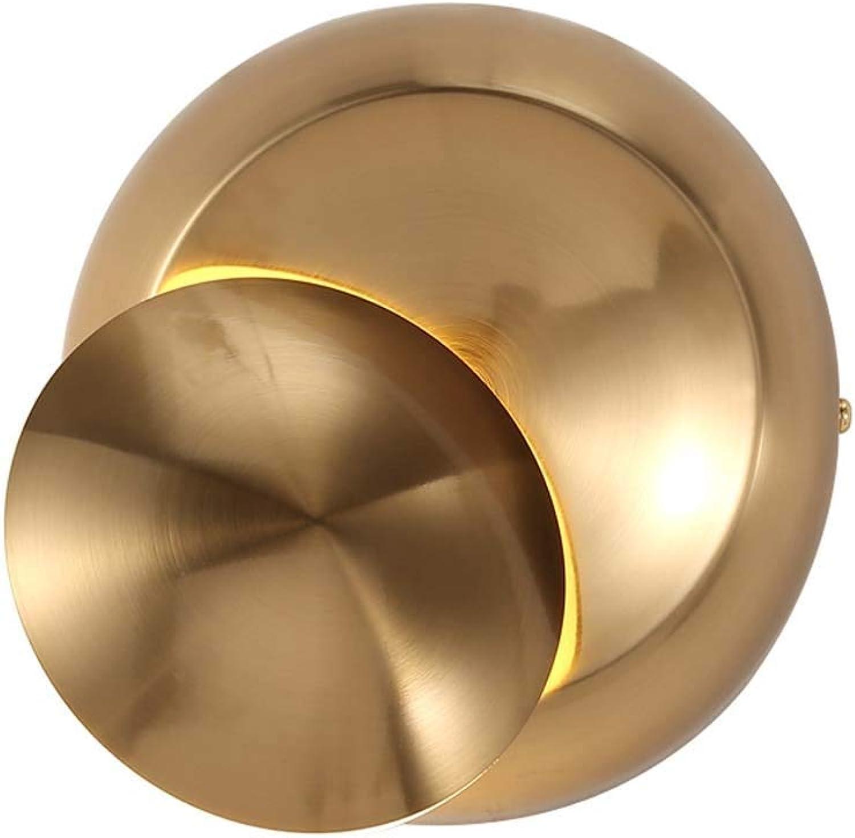 LED-Wandleuchte Moderne , 360 ° justierte Wandleuchte beleuchtet Innen , 5W LED-Wandleuchte für Flur Wohnzimmer Schlafzimmer Flur , Gold , 110-240V