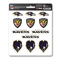 FANMATS ProMark NFL Baltimore Ravens DecalDecal Set Mini 12 Pack, Team Colors, One Size