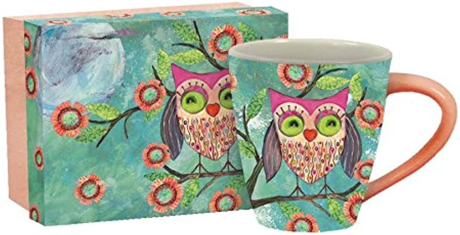 LANG Artisan Happy Owl Cafe Mug