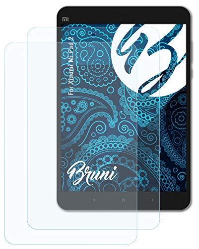 Bruni Schutzfolie kompatibel mit Xiaomi Mi Pad 2 Folie, glasklare Bildschirmschutzfolie (2X)