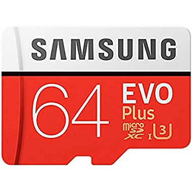 Samsung  64GB MicroSDXC EVO Plus Memory Card w/ Adapter, (MB-MC64GA/EU)