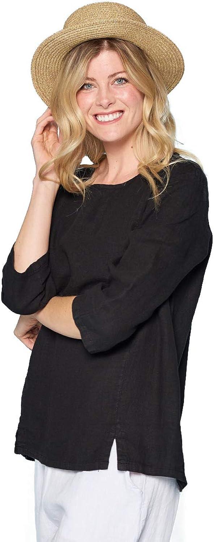 Fashion Focus Lightweight French Linen Tunic Black