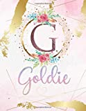 Goldie: Personalized Sketchbook with Letter G Monogram & Initial/ First Names for Girls and Kids. Magical Art & Drawing Sketch Book/ Workbook Gifts ... to Draw - Girly Rose Gold Watercolor Cover.