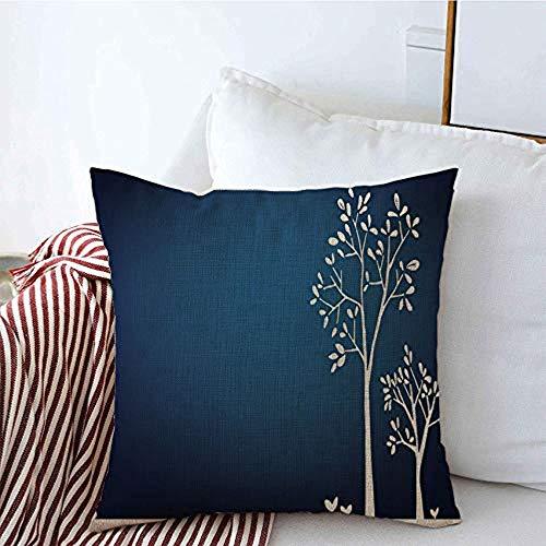 New-WWorld-Shop Kissenbezüge Gras Lebendig Awaresome Weiß Schwarz Romantische Pflanze Blau Zweig Spross Waldblüte Proben Kissenbezüge