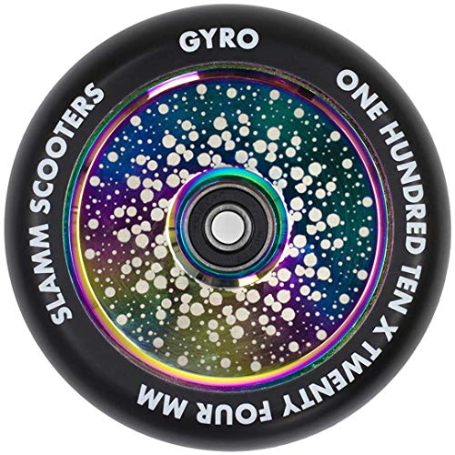 Slamm Scooters Gyro Hollow Core Ruedas de Patinete Patinaje, Adultos Unisex, Multicolor (Neochrome), 110 mm