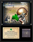 Notre Dame Fighting Irish 12' x 15' Stadium Plaque with Bench From Notre Dame Stadium - College Team Plaques and Collages