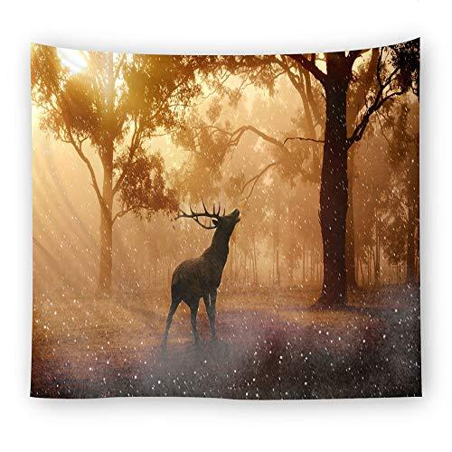mmzki Inicio Tapiz Manta de Pared Elk Forest 5 150 * 100