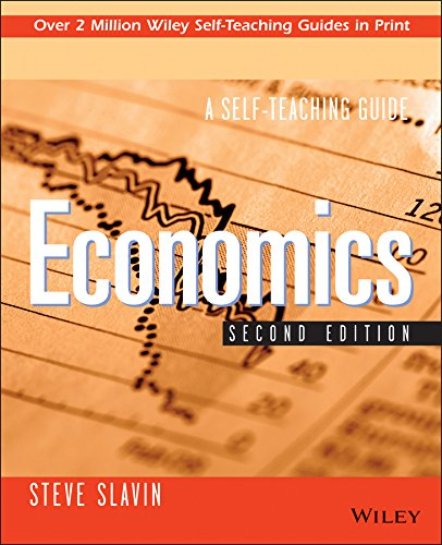 Download Economics: A Self-Teaching Guide (Wiley Self-Teaching Guides) 0471317527