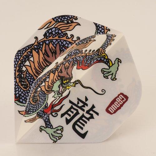 5 x Sets of ONE80 Tattoo Dragon Dart Flights, Standard Form