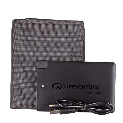 Lifemarque Unisex RFID Charger Wallet, Grey, One Size