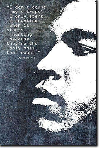 The Pop Culture King Pugilato Poster Motivante Boxing 06'Don't Count Your situps… Rara Stampa Artistica Idea Regalo Citazione Motivante 45 x 30 cm Cartellone