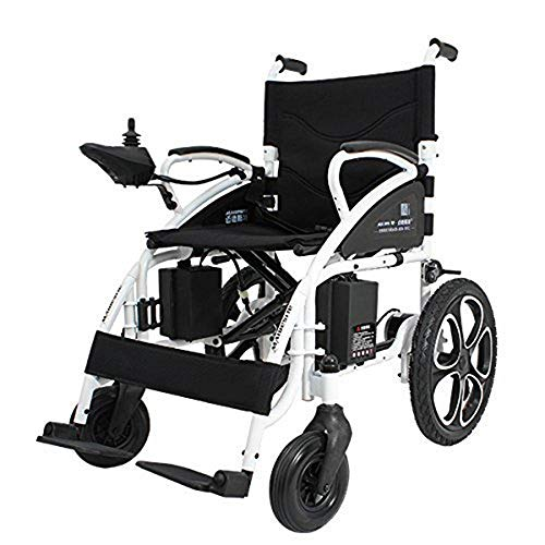 Rubicon All Terrain Heavy Duty Powerful Dual Motor Foldable Electric Wheelchair Motorized Power Wheelchairs Silla de Ruedas Electrica para Adultos. Supports up to 300 lbs - Weight 70 lbs