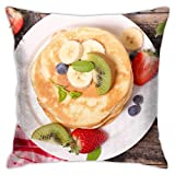 WH-CLA Throw Pillow Covers 992 Banana Blueberry Breakfast Kiwi Pancake Still Life Strawberry Sofá Fundas De Almohada Sofá Sofá con Cremallera Fundas De Cojín Fundas De Respaldo Suaves INT