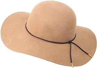 Moon Kitty Women's 100% Wool Fedoras Ribbon Band Floppy Hat Cap