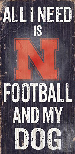 Fan Creations C0640 University of Nebraska Football and My Dog Sign