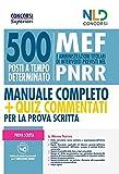 Concorso 500 MEF (Ministero dell'Economia e delle Finanze): 500 posti banditi alla Presidenza del Consiglio dei Ministri - Manuale completo + Quiz per la Prova Scritta