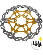 Newgoal Disco de Freno de Disco de Bicicleta, Bicicleta de montaña Flotante Disco de Freno Centro de Bloqueo Accesorios de Bicicleta