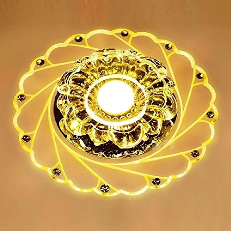 Retro Chandelier Ming installiert Pfau Stil Kristall Deckenleuchten Led 3W runden Gang Beleuchtung Eingang Flur Sconce Lights Lamp Surface Mount , 2