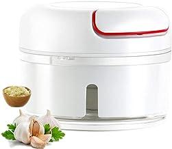 Funlove 1 pièce de mini trancheuse d'ail à la maison broyeur broyeur à la main pour barbecue légumes, viande, cuisine mult...