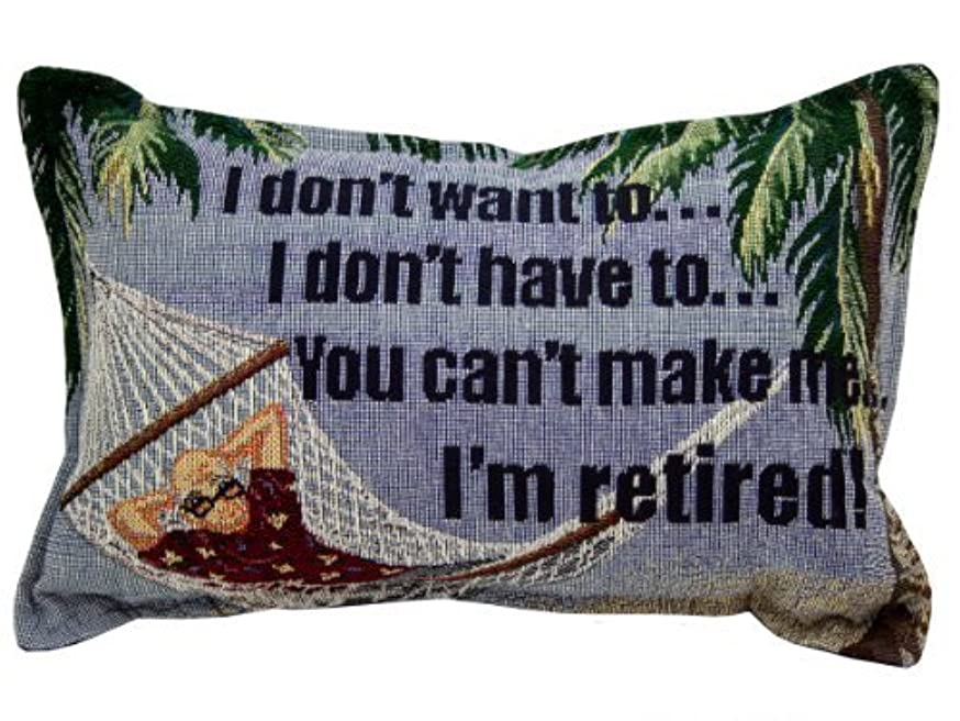 冷える原油批評I Don't Want To I'm Retired Tapestry Toss Pillow [並行輸入品]