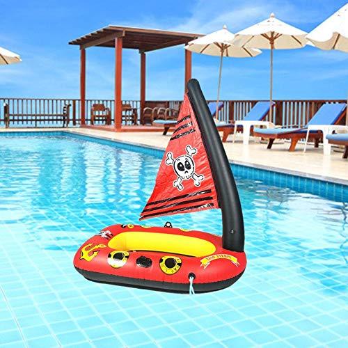 gaeruite Aufblasbares Piratenschiff, Kinderaufblasbares Piratenschiff Aufblasbares Schwimmspielzeug für Kinderwasserspielzeug