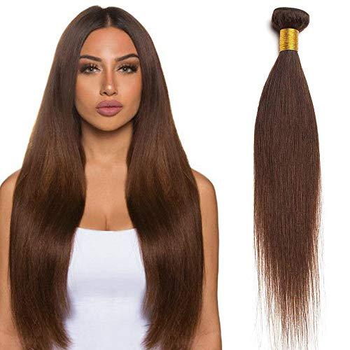 """20""""(50cm) SEGO Extensiones de Cortina Pelo Natural Humano [Brazilain Human Hair Bundles] #2 Castaño Oscuro Cabello Brasileño Liso Straight (1 Bundle)"""