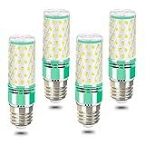 LED E27 maíz bombilla,16W Luz blanca 6000K Alto lumen1600LM, 120W Incandescente Bombilla Equivalentes, ángulo 360, Edison tornillo bombillas, pack de 4 (E27-6000K)