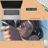 素敵なマウスパッド特大アイスプリンセスゴーストナイフ風チャイムプリンセスアニメーション肥厚ロック男性と女性のキーボードパッドノートブックオフィスコンピュータのデスクマット、Size :400 * 900 * 3ミリメートル-NC-574