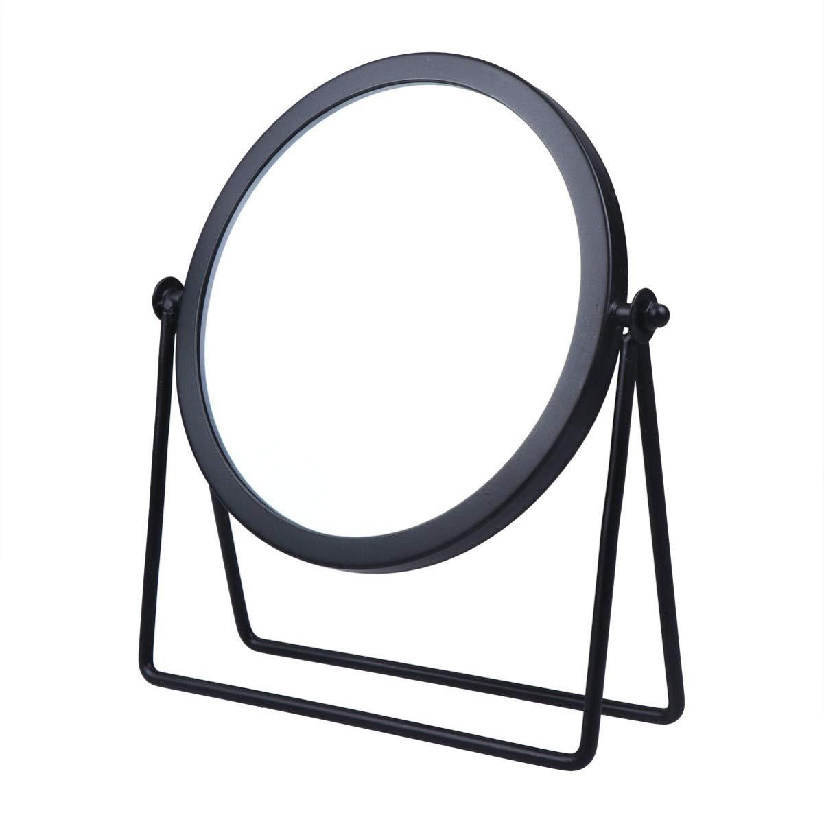 Max 50% OFF LEORX Makeup Mirror Single Sided Fram Metal Desktop Round Very popular