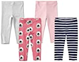 Spotted Zebra leggings-pants, Floral, 4T, 4er-Pack