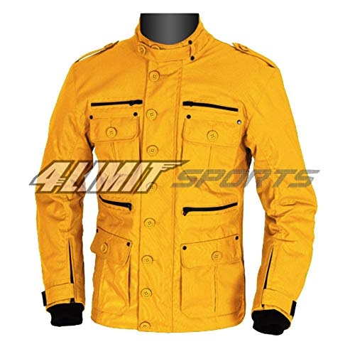 4LIMIT Sports Motorradjacke GENTLEMAN Outdoor Textil Jacke gelb