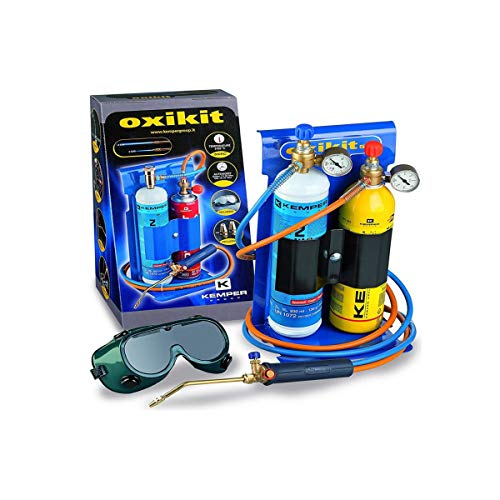 Gasbrenner BI Gasbrenner OXYKIT 3300 °C KEMPER mit Druckminderern Gasdruckmesser + 2 Spitzen Komplettset Löten und Schweißen