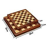 Zengqhui Conjunto de ajedrez clásico Internacional de Ajedrez Juguete-Plegable magnético Juego de ajedrez Tablero de ajedrez boj y Palo de Rosa Juego de Mesa Juego para Adultos y niños