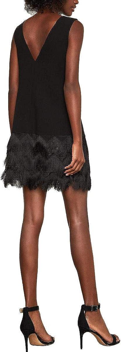 BCBGMAXAZRIA Womens Addilyn Fringe Dress