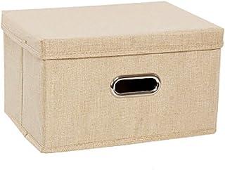 Onlyup Panier de rangement pliable en tissu pour penderie, vêtements, livres, jouets cosmétiques, 29 x 30 x 45 cm (Beige)