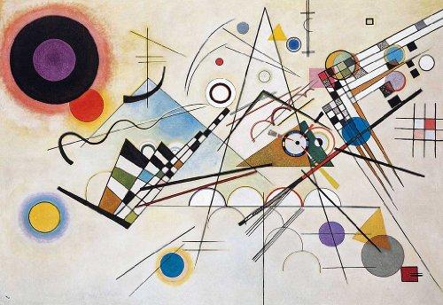 Abstrakte Komposition 8 von Wassily Kandinsky, Nachdruck, Wandkunst, Poster, Hausdekoration, Bilder Größe A1 (59,4 x 84,1 cm)