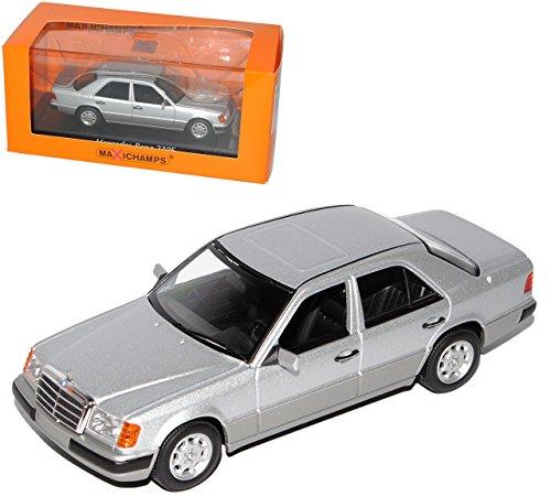 Minichamps Mercedes-Benz E-Klasse W124 Limousine Silber Metallic 1984-1997 1/43 Modell Auto