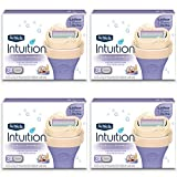 Schick Intuition Pure Nourishment Womens Razor Refills with Coconut Milk and Almond Oil, 12 count