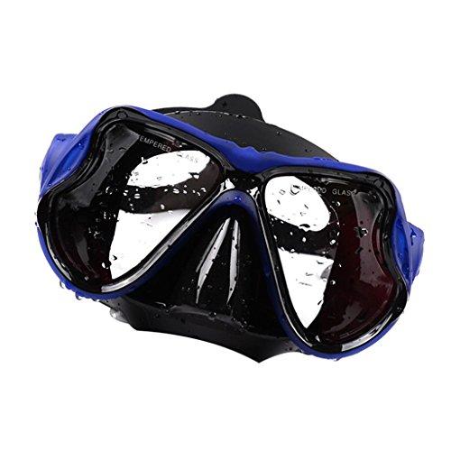 freneci Máscara de Buceo para Adultos Gafas Templadas Gafas de Esnórquel Soporte para Cámara - Azul, 17 x 11 cm