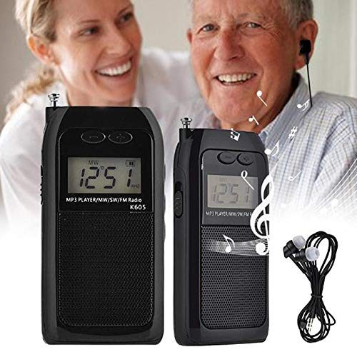 DatingDay Portable Digital World Full Band Radio Receiver FM/MW/SW DAB Radio+MP3 Player