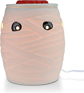 STAR MOON Pluggable Fragrance Warmer Wax Melter for Home/Dorm/Office No Flame No Smoke No Soot Packaged Together with Two Bulbs - Spooky Mummy