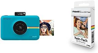 Polaroid SNAP Touch - Cámara digital con impresión instantánea y pantalla LCD (azul) con tecnología Zero Zink + Polaroid P...