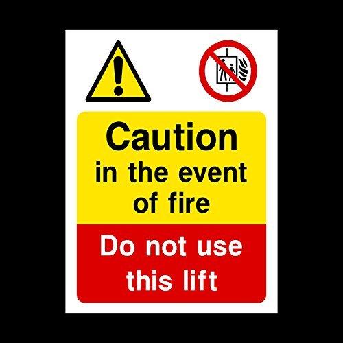 Pegatinas autoadhesivas de advertencia de advertencia de advertencia de advertencia de advertencia en caso de incendio, no utilices, para fuego, emergencia, salida, alarma, empuje, extintor, montaje (Le14)