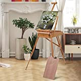 Tangkula Wooden French Easel Stand with Sketch Box, Drawer & Palette Foldable...