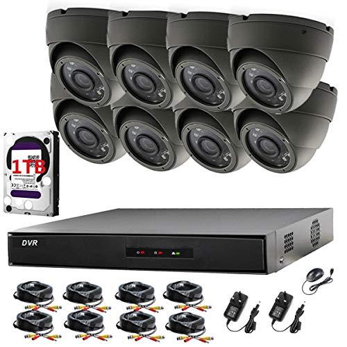 Preisvergleich Produktbild Videoüberwachungsanlage Hikvision 1080P CH DVR und 8 x Sony Dome-Kameras 2, 4 MP 1080P Full HD Nachtsicht für Innen und Außen