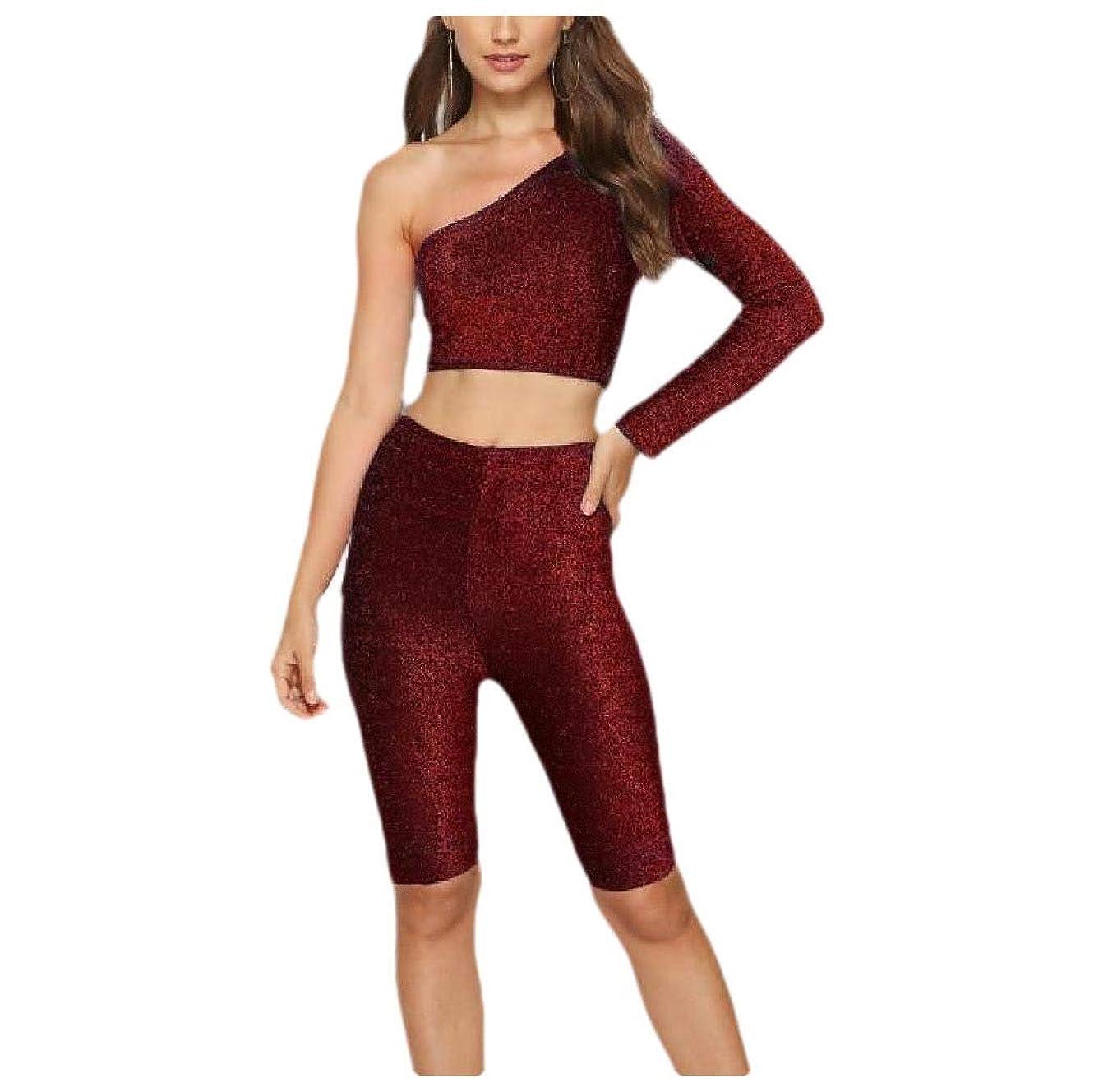 高さ機構熱望するKankanluck Womens Long Sleeve Oblique Pure Color Tracksuit Sport Sweat Suit Set